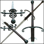 Functional Gothic and Renaissance Two Hand Swords