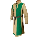 Medieval Tabard Green and Tan