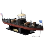 USS Monitor Civil War Ship Scale Model - 21 Inches - Limited Edition