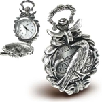 The Nevermore Fob Watch Pewter Alchemy 17-AW17