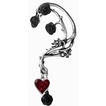 Bed of Blood Roses Ear Wrap Pewter Alchemy E329
