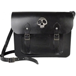 Black Leather Skully Satchel Alchemy  LG70