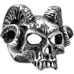 Hell's Doorman Ring Pewter Alchemy R176