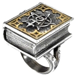 Dee's Book of Angel Magic Ring Pewter Alchemy R187
