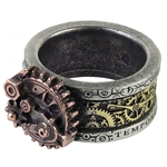 Quanta Mechanica Cosmonatallogy Ring Pewter Alchemy R200