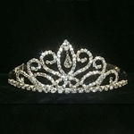 Fancy Navette Pear Drop Tiara 172-12044