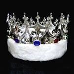 King's Crown with Faux Fleece - Silver 172-15598