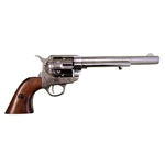 Old West M1873 Colt Cavalry Revolver Nickel Non Firing