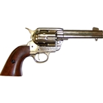 Colt 45 Peacemaker M1873 Nickel Finish Revolver Non Firing