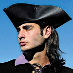 Leather Pirate or Highwayman Tricorn Hat 200550