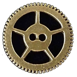 Steampunk Sew-Through Brass Gear Button 107.1114
