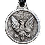 Heraldic Eagle Pewter Necklace Pendant 121.0614