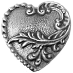Victorian Heart Pewter Button 107.0756