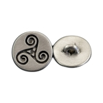 Celtic Triskele Spiral Button 107.1314