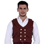 Double Breasted Engineer Vest  C1285