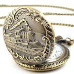 Train Pocket Watch or Pendant PW1002