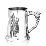 Embossed Piper One Pint Pewter Tankard SG101