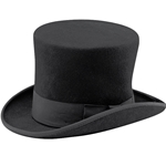 Black Victorian Top Hat