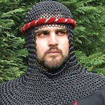 Blackened Steel Chainmail Coif 26-300076