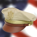 WWII U.S. Army Officer's Crush Cap Khaki Reproduction