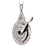 Silver Nocturnal Stardial Pendant NO2SIL