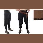 Medieval Ankle Laced Pants, Brown, Extra Extra Large