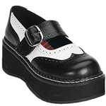 Emily Black And White Mary Jane Shoes 34-3076