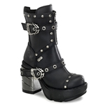 Sinister Studded Ankle Boots 34-3119