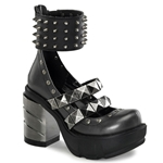 Sinister Spiked Mary Jane Platform Shoes 34-3127