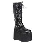 Mega Men's Strap Knee High Boots
