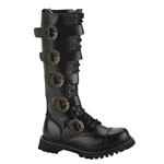 Steam Gear And Buckle Tall Leather Boots 34-3271