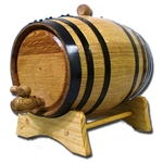 3 Liter Oak Barrel with Black Steel Hoops 37-3002