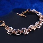 Mobis Silver & Copper Chainmail Bracelet