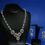 Cluster Chainmail Necklace and Earring Set 37-4100