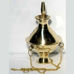 Small Brass Hanging Incense Burner 45-IBHANS