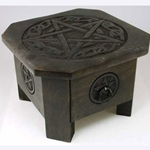 Celtic Pentagram Altar Table with Drawer 45-RAT635