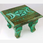 Antiqued Triple Moon Altar Table 45-RAT646S