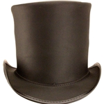 Stove Piper Hat - Brown,Stove Pipe Top Hat
