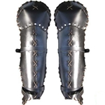 Laced Leather Greaves 65-13-24