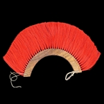 Roman Helmet Plume Red - Wooden Base,Roman Helmet Plume Red