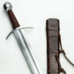 Knightly Arming Sword with adjustable hanging scabbard
