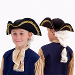 Colonial Hat with Wig Child 100-125436