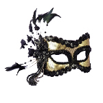 Black and Gold Carnival Mask   100-140507