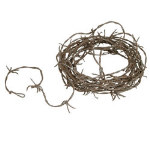 12' Rusty Barbed Wire Garland 101-148432