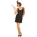 Black Flapper Costume Adult 100-144656