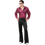 Disco Shirt - Liquid Red & Black Adult Costume 100-180340