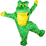 Deluxe Plush Frog Mascot Adult Costume 100-181214