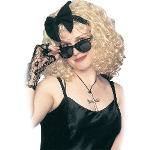 Pop Star 80's Wig w/Bow 100-100194