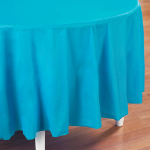 Bermuda Blue (Turquoise) Round Plastic Tablecover 101-193005