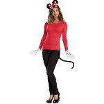 Disney Red Minnie Mouse Accessory Kit (Adult) 100-198467